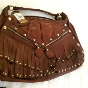 Junior Drake Leather Fringe Bag BNWT